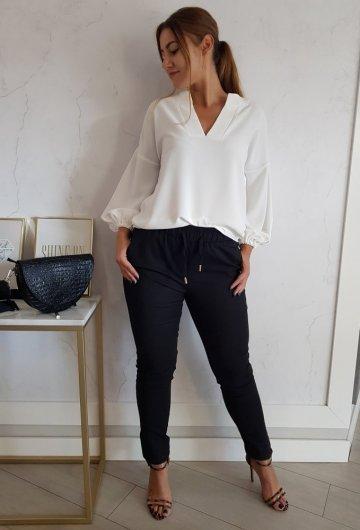 Spodnie Fresia z gumką Czarne 3