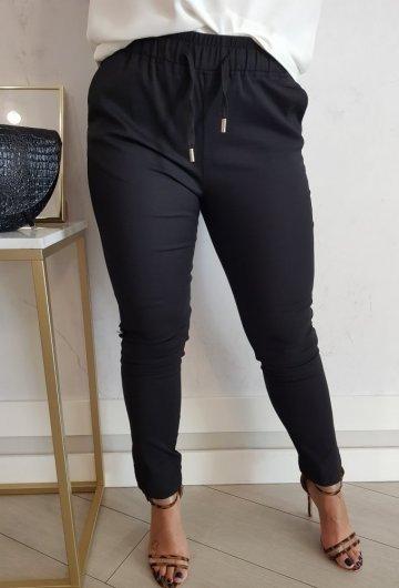 Spodnie Fresia z gumką Czarne 5