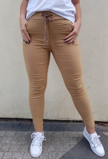 Spodnie Basic Musztarda