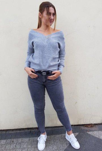 Sweterek Paris Szary 3