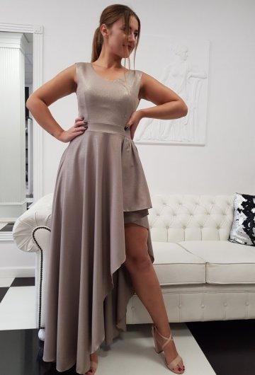 Sukienka Asymetria Capuccino