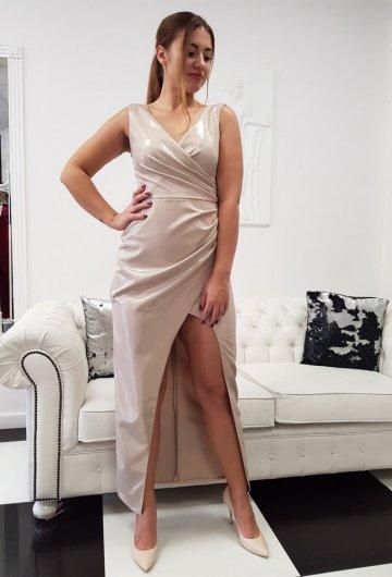 Sukienka Laura Maxi Złota