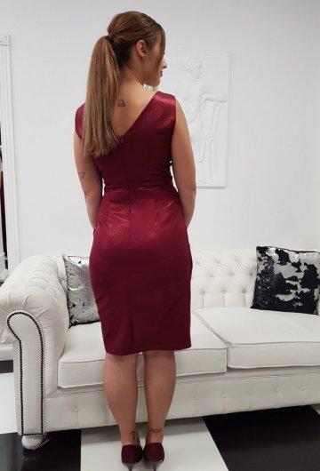 Sukienka Laura Bordo Połysk 5