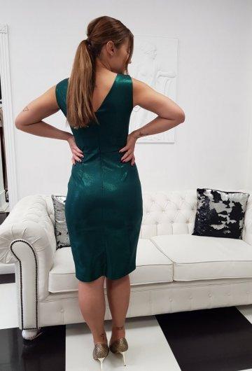 Sukienka Laura Zielona Połysk 3