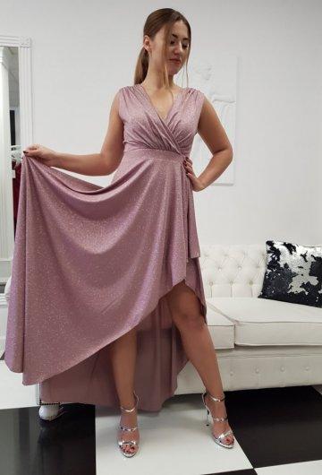 Sukienka Asymetria Lila