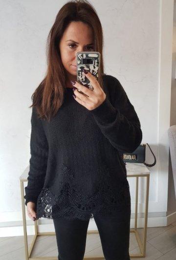 Sweterek Gipiura Czarny