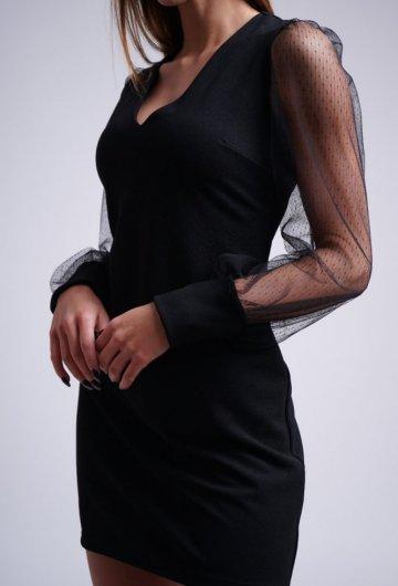 Sukienka Rękaw z Siatki
