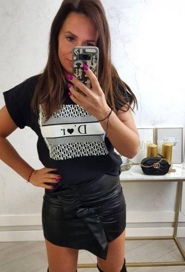 T-shirt Dior Czarny