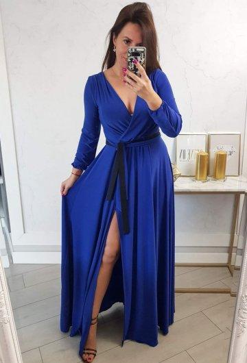 Sukienka Salma Chaber Długi Rękaw