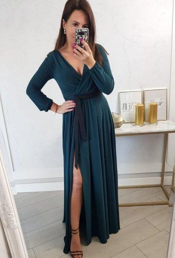 Sukienka Salma Zielona Długi Rękaw 1