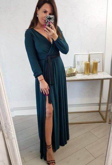 Sukienka Salma Zielona Długi Rękaw 3