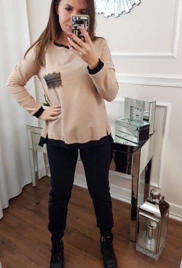 Bluza King Beżowa z Kokardą