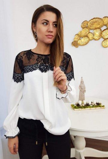 Koszula Biała z Koronką