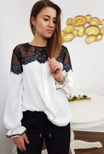 Koszula Biała z Koronką 2