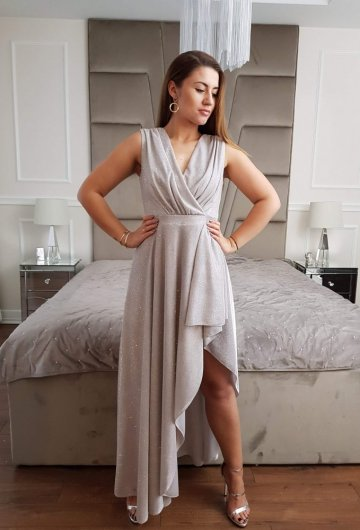 Sukienka Asymetria Silver