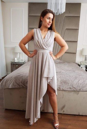 Sukienka Asymetria Silver 1