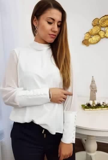 Koszula Wiązana Biała