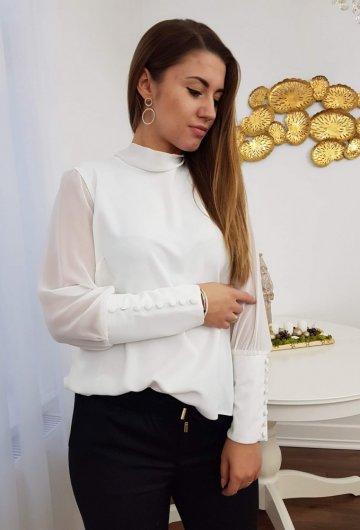 Koszula Wiązana Biała 3