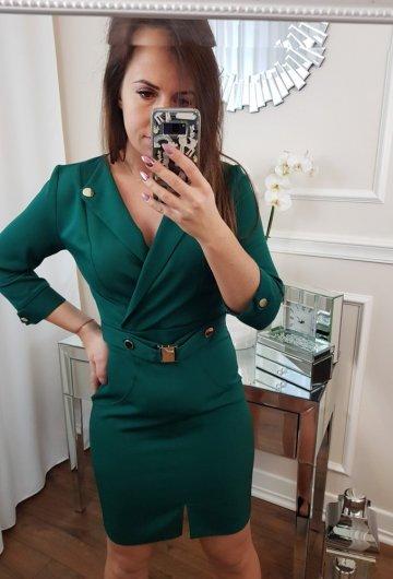 Sukienka Ombre Butelkowa Zieleń 2