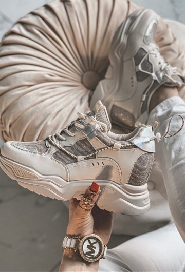 Buty Sneakersy Cyrkonie