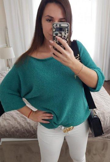 Sweter Alpaka Zielony Neon