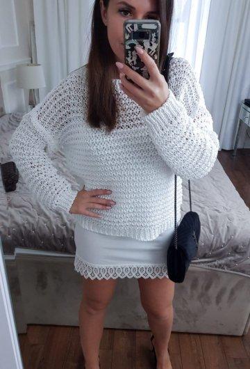 Sweterek Siwiec Biały