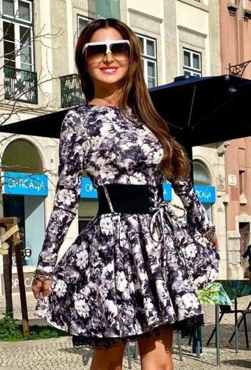 Sukienka By o lala Kwiaty