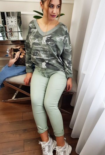 Spodnie Moda Zielone