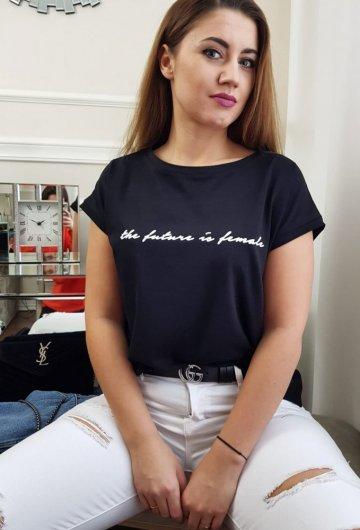 T-Shirt Future Czarny