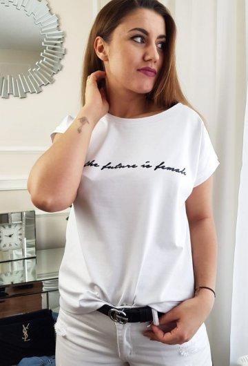 T-Shirt Future Biały