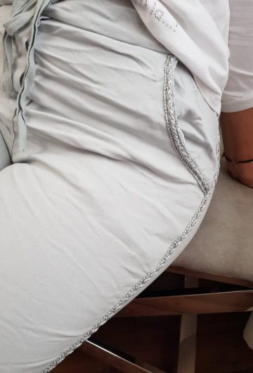 Spodnie Lampas Szare 3