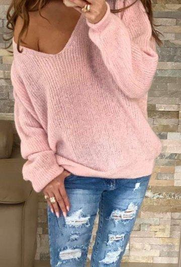 Sweter By o la la Różowy