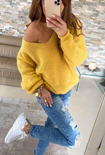 Sweter By o la la Żółty