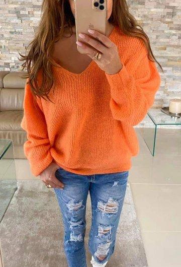 Sweter By o la la Pomarańczowy