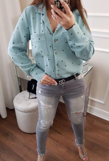 Koszula Dots Miętowa 3