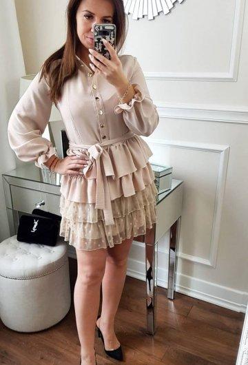 Sukienka Stella Beżowa