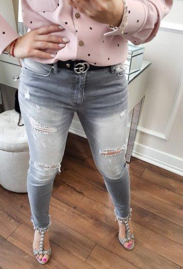 Spodnie By o la la Grey