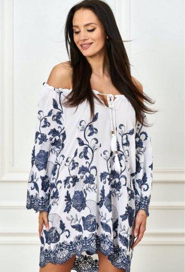 Bluzka haftowane kwiaty