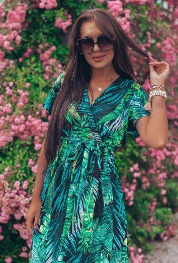 Sukienka Palms kopertowa 8