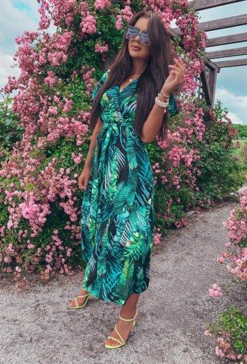 Sukienka Palms kopertowa 9