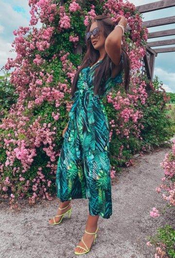 Sukienka Palms kopertowa 10