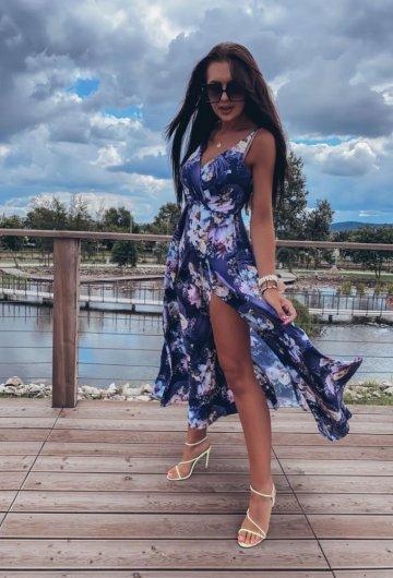 Sukienka Paris Granatowa