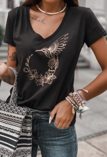 T-shirt Koliber Czarny
