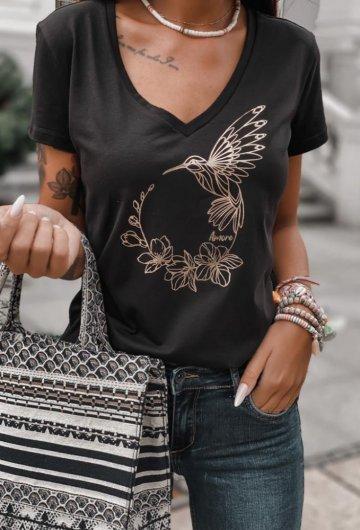 T-shirt Koliber Czarny 3