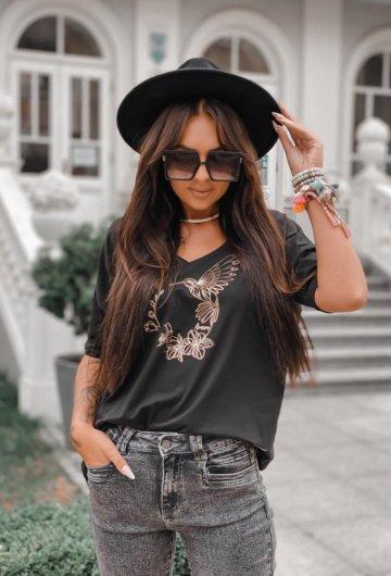 T-shirt Koliber Czarny +size 1