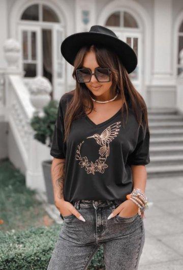 T-shirt Koliber Czarny +size 2