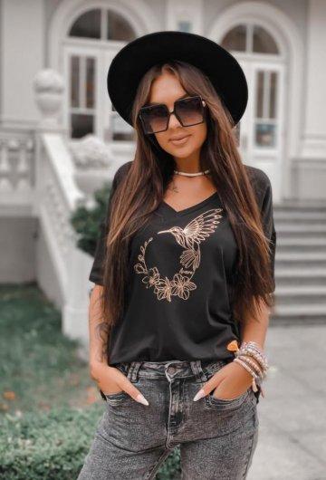 T-shirt Koliber Czarny +size 3