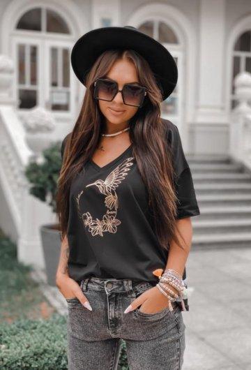 T-shirt Koliber Czarny +size 7