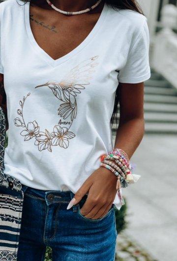 T-shirt Koliber Biały