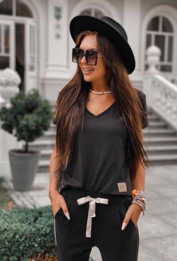 T-shirt Basic Czarny 2